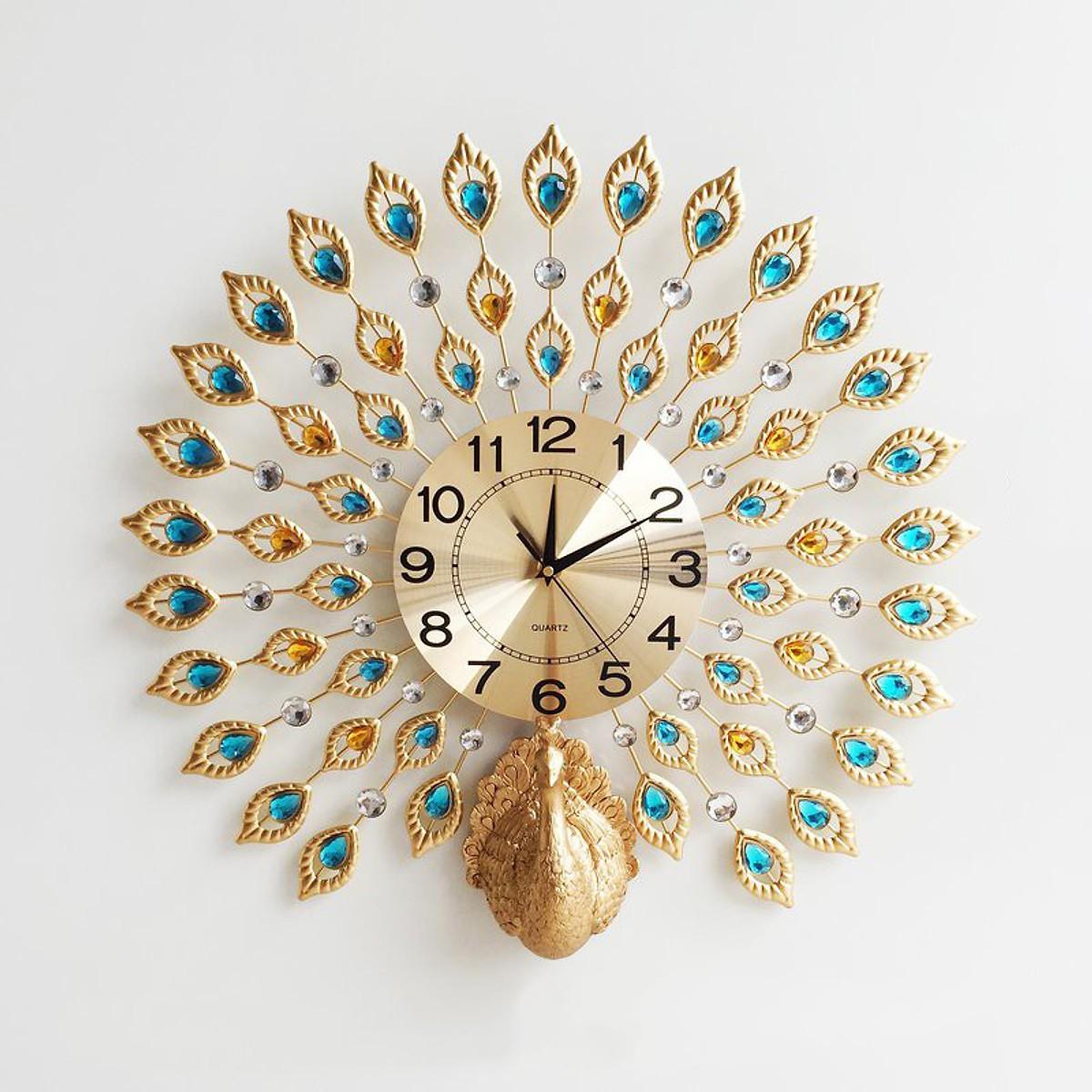 Đồng hồ treo tường trang trí chim công (DNS-08)