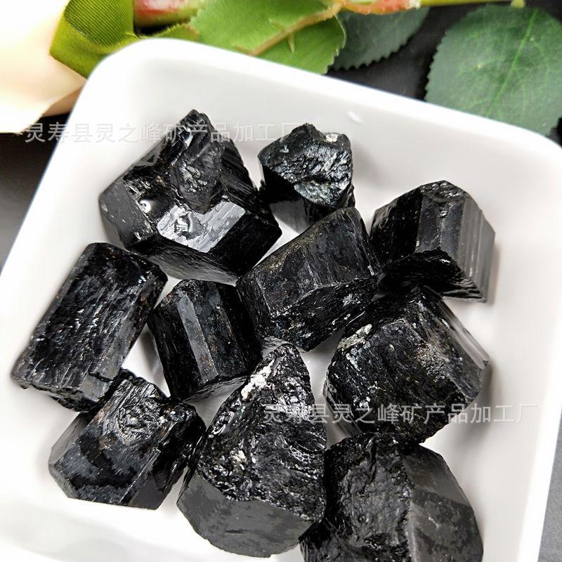 LINGZHIFENG Khoáng sản phi kim loại Nước phòng tourmaline đá tinh khiết cao sử dụng các hạt tourmali