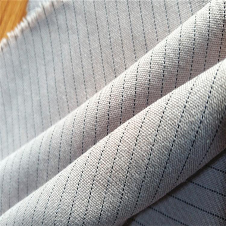 NUOHUA Vải pha sợi Chất liệu cotton pha trộn TR chống tĩnh điện chính xác 1.0 sọc vải công cụ dây dẫ