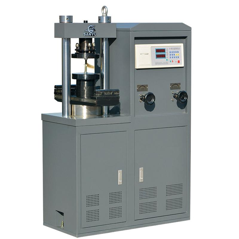 Dụng cụ đo độ đàn hồi Máy thí nghiệm áp suất điện thủy lực SYE-1000