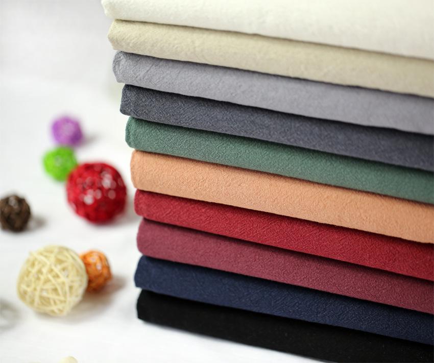Vải Cotton pha Chất liệu cotton và vải lanh được giặt bằng vải cotton và vải lanh pha trộn chất liệu