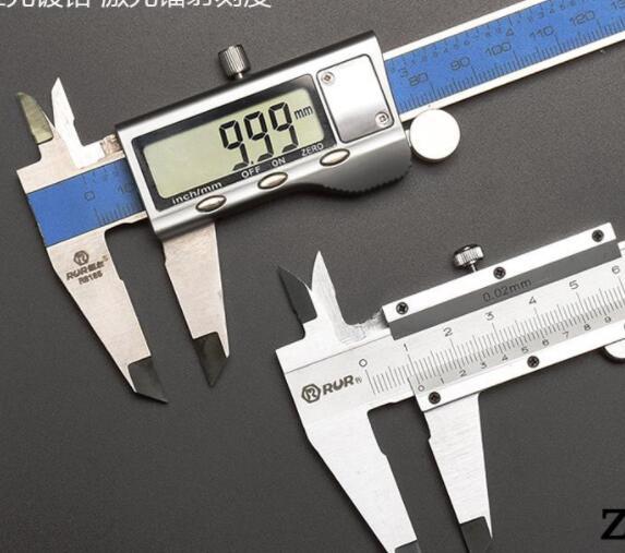 Thước kẹp điện tử bằng thép không gỉ ruier Caliper 0-200mm