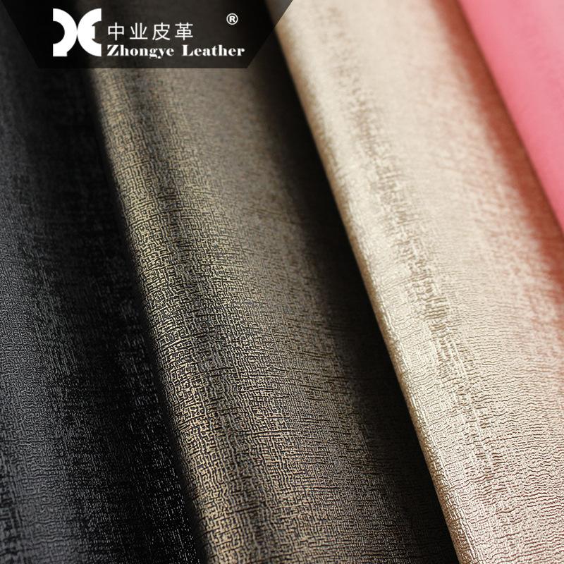 Zhongye Simili tổng hợp nhà sản xuất cổ phiếu da PU 0.8mm giày da nhân tạo xương orory mới cứng gói