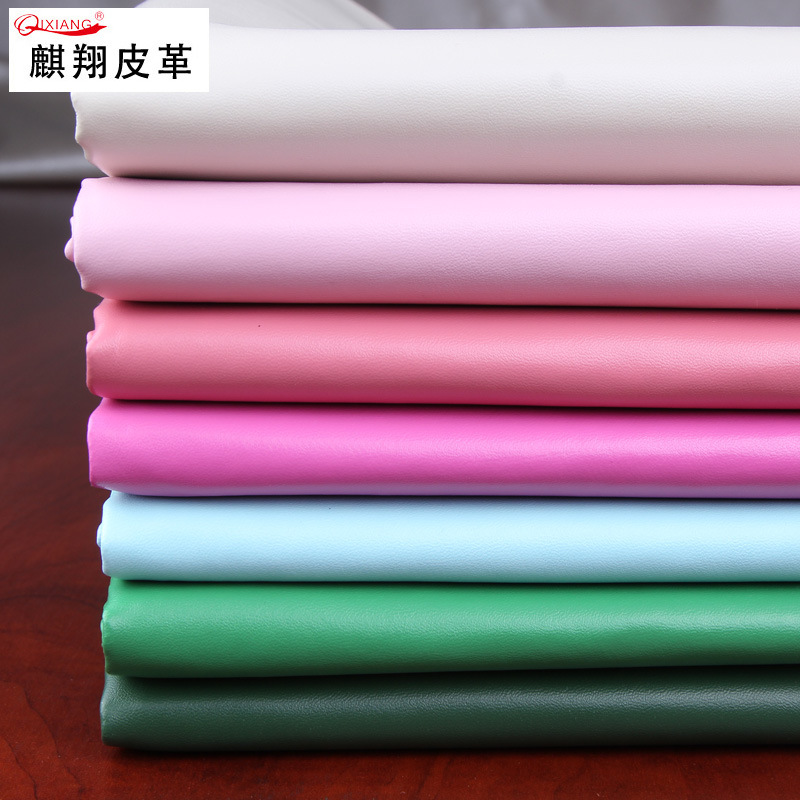 QIXIANG da Đầm Napa họa tiết vải da pu 0,7 dày TC vải đáy mịn hạt nhân da sofa giả da