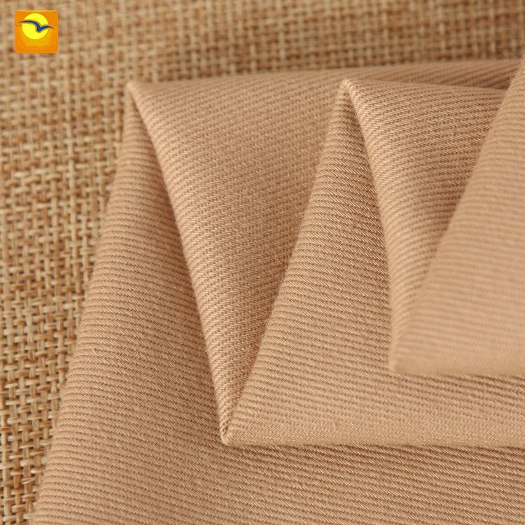 QIANQUAN Vải Twill Ke Kiều công cụ trực tiếp vải polyester / cotton 21 * 21 twill sợi thẻ đồng phục