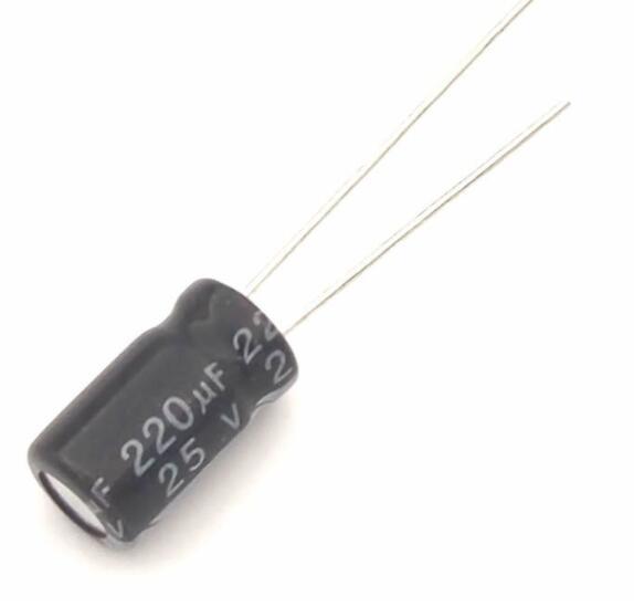 tụ điện nhôm 220uF 25V 6*12 chuyên dụng
