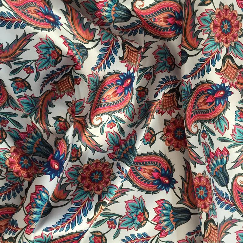 BANGSHENG Vải Chiffon & Printing Nhà máy trực tiếp chuyển nhiệt in kỹ thuật số vải thời trang quần á