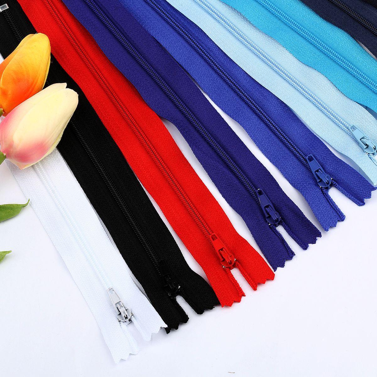 DILI Thị trường phụ kiện Quần hành lý tại chỗ dây kéo nylon 20 cm 20 cm 40 loại số lớn 3 dây kéo đón