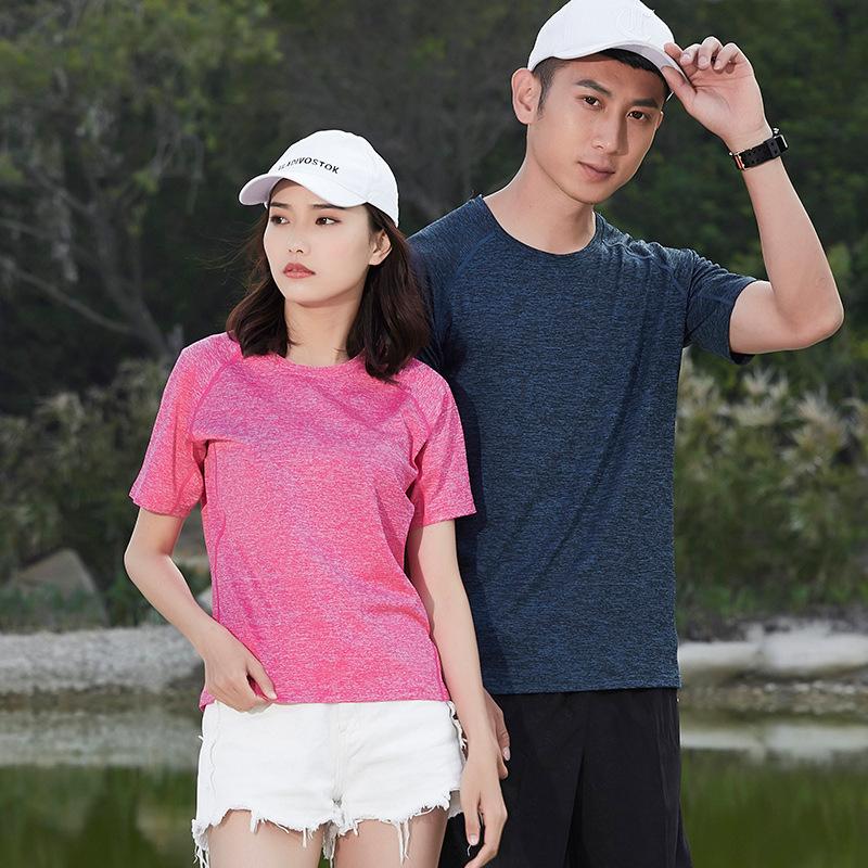 XIYOUNIAO Áo thun mau khô Mùa hè 2018 cặp đôi thể thao giải trí ngoài trời áo thun nhanh khô cộng vớ