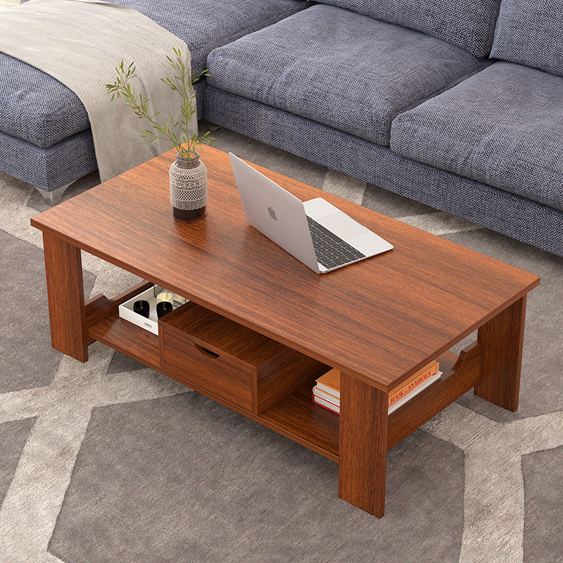 Bàn cà phê đơn giản hiện đại phòng khách lưu trữ đồ nội thất đơn giản