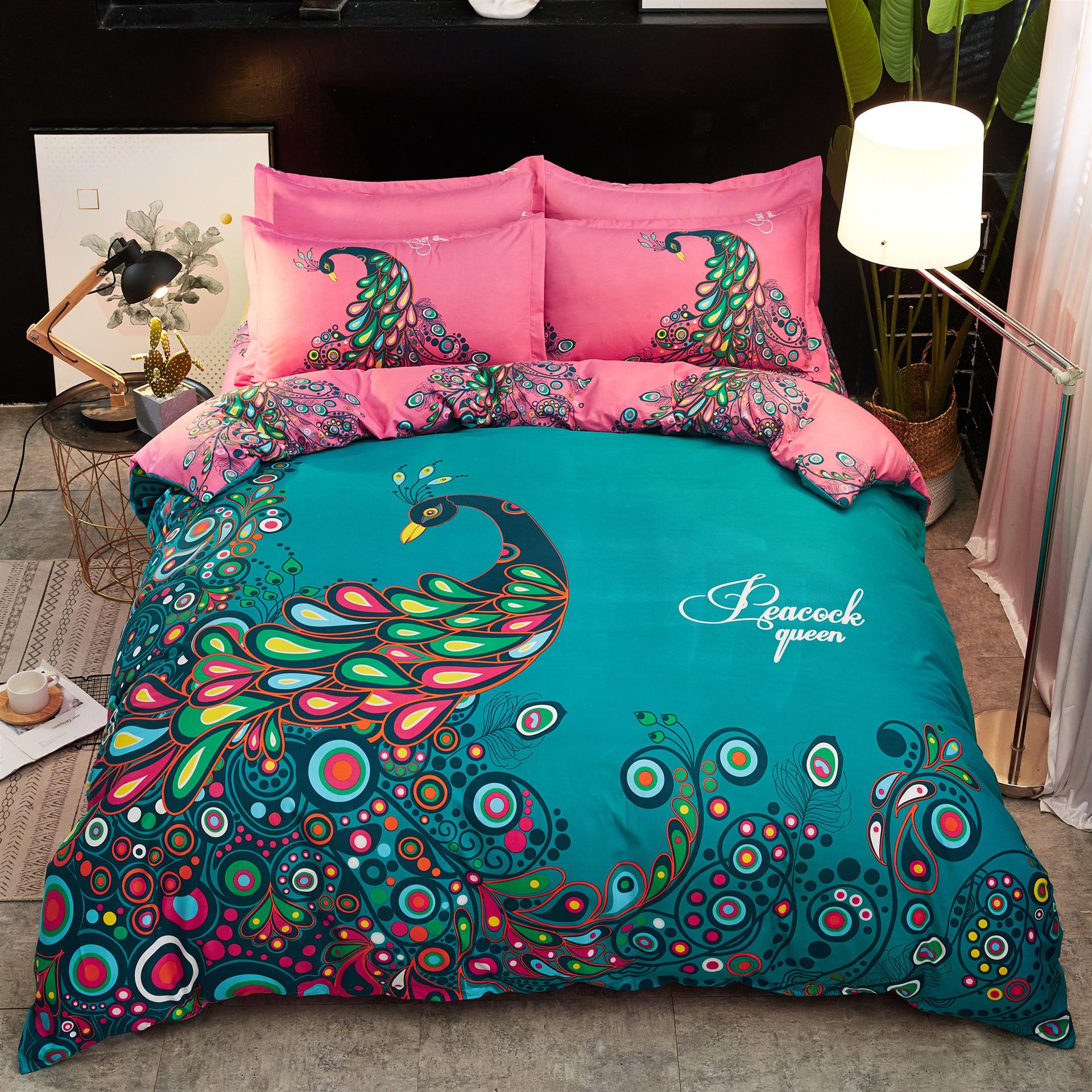 Bộ drap giường vải Bông polyester - 1,8m