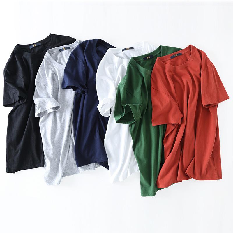 hàng trào lưu mới Áo thun cổ tròn màu trơn, áo thun nam tay ngắn tùy chỉnh áo thun cao cấp OEM quảng