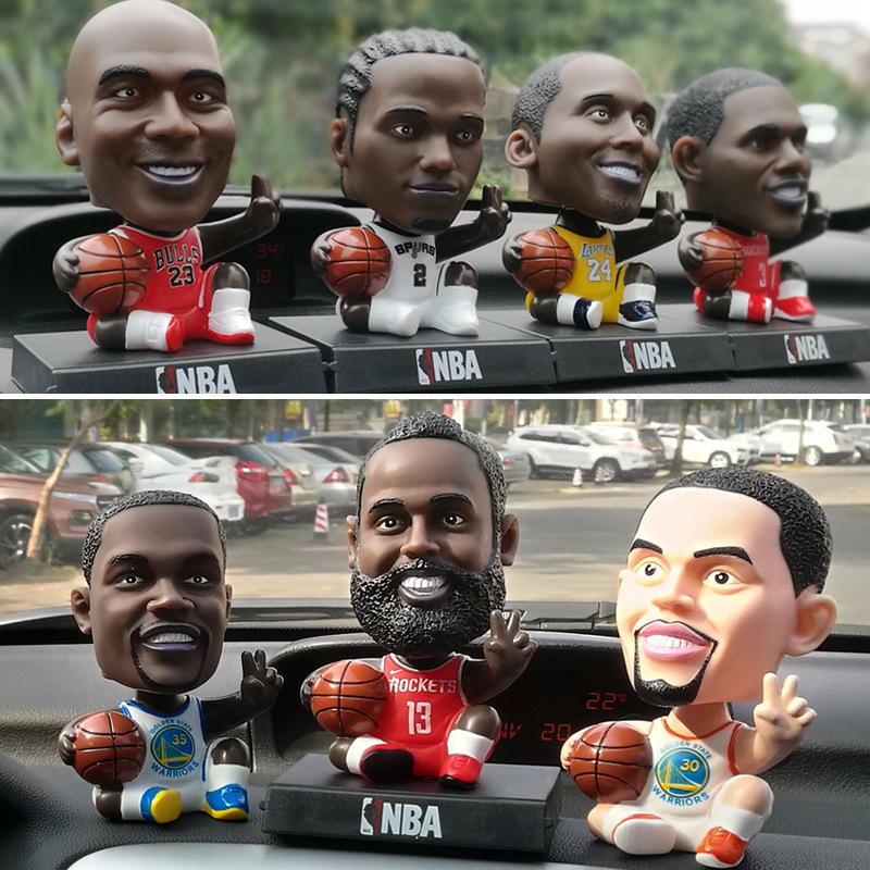 Thị trường đồ trang trí xe hơi Q phiên bản Ngôi sao bóng rổ NBA Ngôi sao bóng đá Mesikuri lắc đầu bú