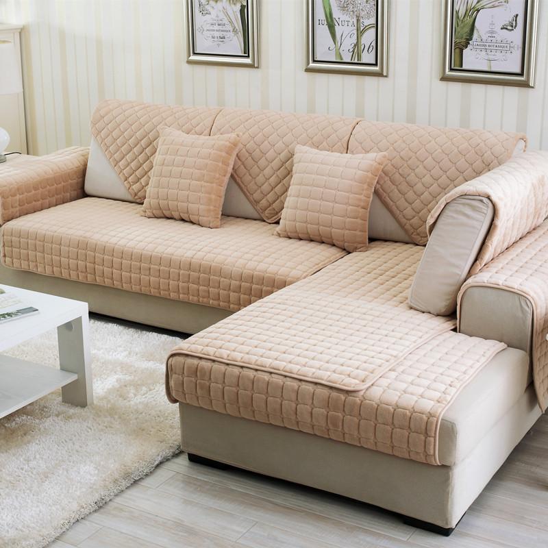 Đệm massage Bán buôn dày flannel sofa khăn Hàn Quốc bốn mùa sang trọng sofa chống trượt đệm bìa khăn