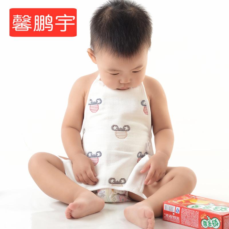 XINPENGYU Đồ dùng sơ sinh Tạp dề Bán buôn bông gạc sáu lớp bụng mẹ và em bé cung cấp tạp dề phim hoạ