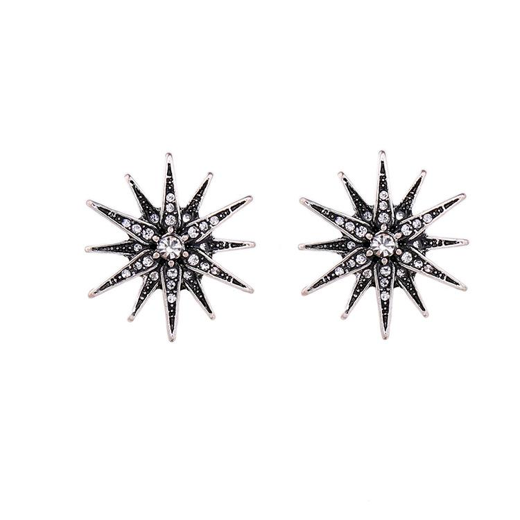 Kissme Nhà sản xuất trang sức thời trang châu Âu và Mỹ bán buôn hợp kim phóng đại kim cương hai lớp