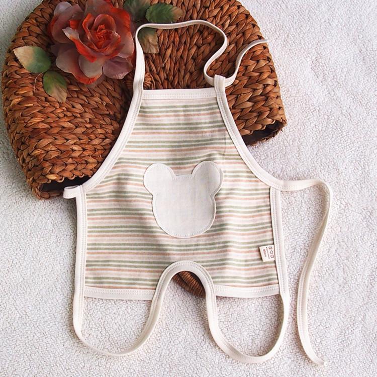 Đồ dùng sơ sinh Bông màu hữu cơ cotton tạp dề trẻ sơ sinh Đàn ông và phụ nữ chu vi bông tạp dề chu k