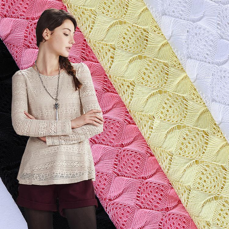 QIXIU Vải dệt may Vải thêu khô mới Vải ren Dây vải Quần áo Vải Ren tùy chỉnh