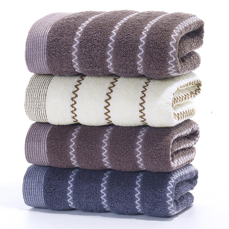 Khăn bông , khăn tắm cotton kiểu sọc 105 g