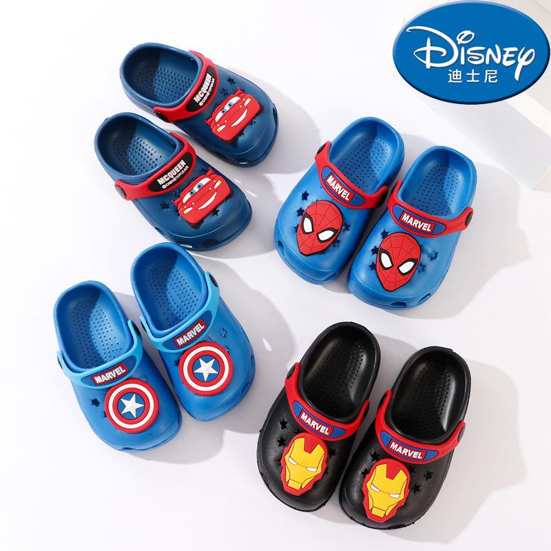Disney Giầy dép Dép đi xuyên quốc gia Disney Dép trẻ em Người nhện mùa hè 1-6 tuổi trẻ em đi giày ch