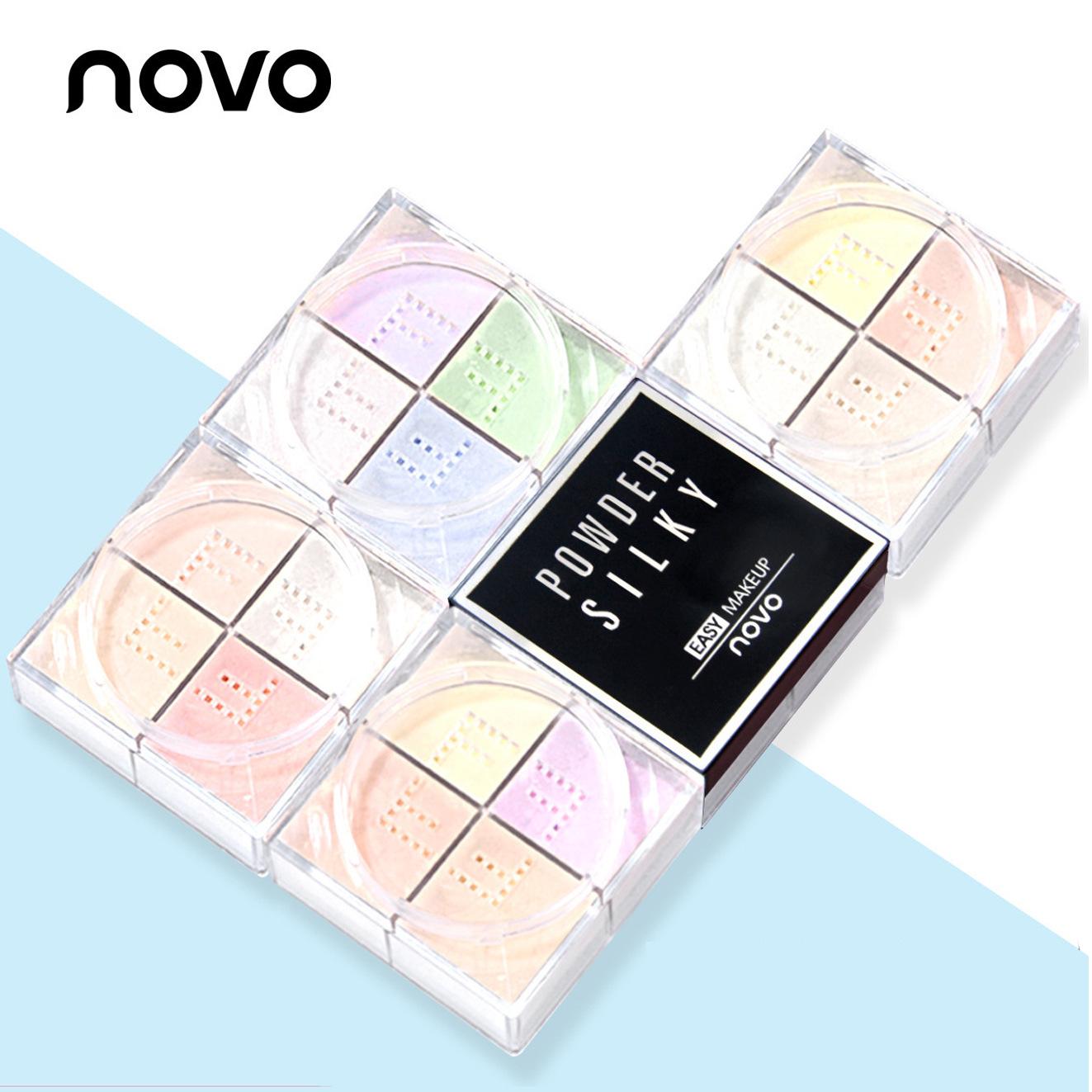 NOVO Mỹ phẩm trang điểm thương hiệu mới bột lỏng bốn màu bột mật ong che khuyết điểm kiểm soát dầu m