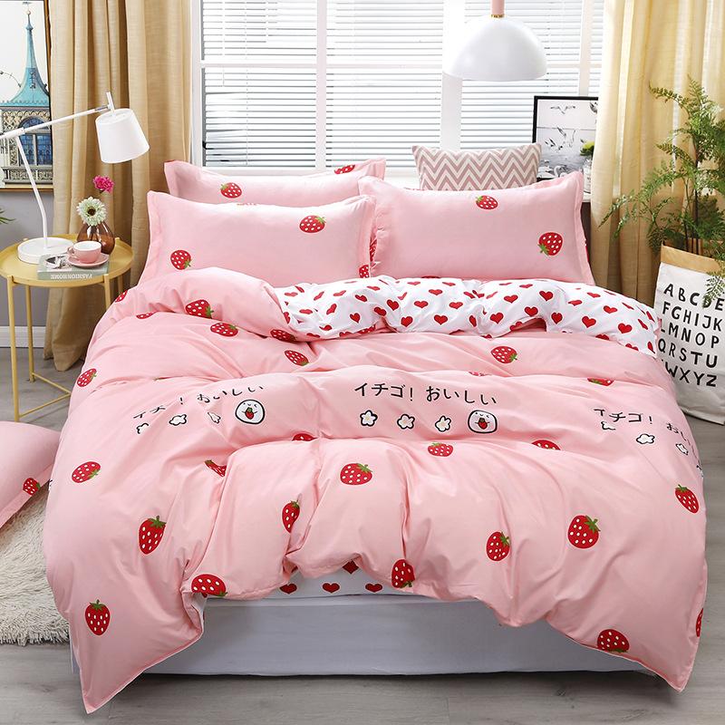 Set chăn trải giường Aloe vera cotton bốn mảnh