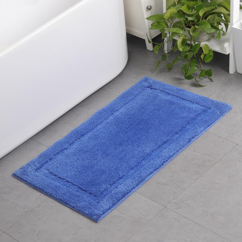 MLZJ Đệm chân Nhà sản xuất thảm bán buôn hộ gia đình màu rắn mat phòng tắm thấm mat microfiber bàn c