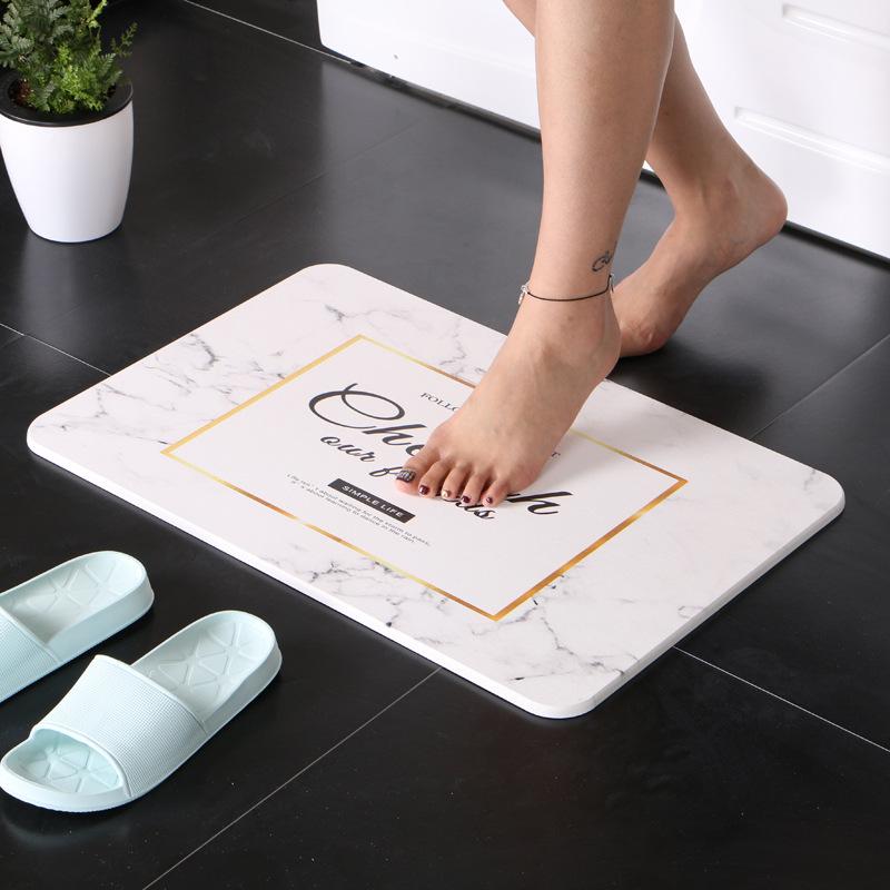 KADAMAN Đệm chân Nhà sản xuất bán buôn diatom bùn mat phòng tắm hấp thụ nước khô nhanh diatom đất ma