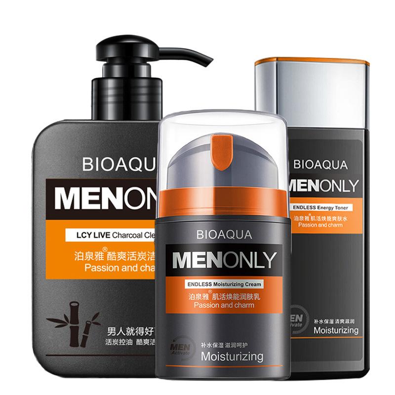 BIOAOUA Phái nam Park Springs Men Skincare Set Ba-set Set Freshing Oil Control Moisturising Facial C