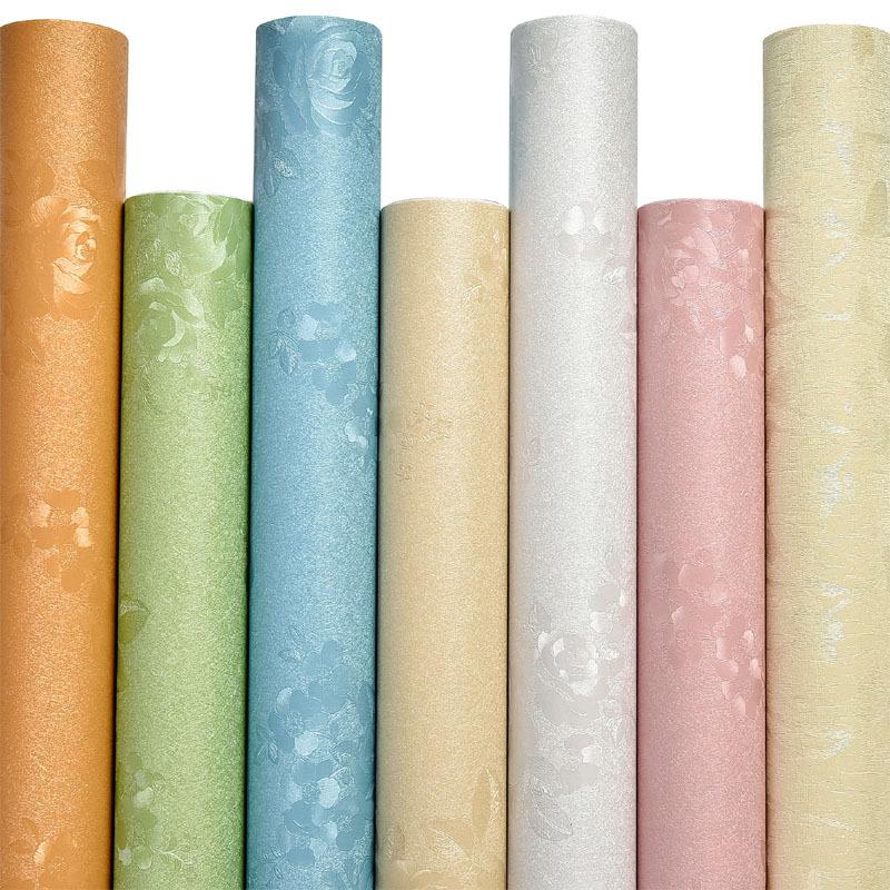 LEXUAN Giấy dán tường PVC hình nền tự dính đơn giản màu rắn hình nền tự dính Châu Âu PVC tân trang p