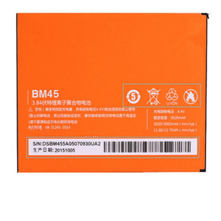 YIKAI Pin điện thoại Nhà máy bán hàng trực tiếp cho pin NOTE2 pin BM40 BM41 BM44 BM42 BM45 pin điện