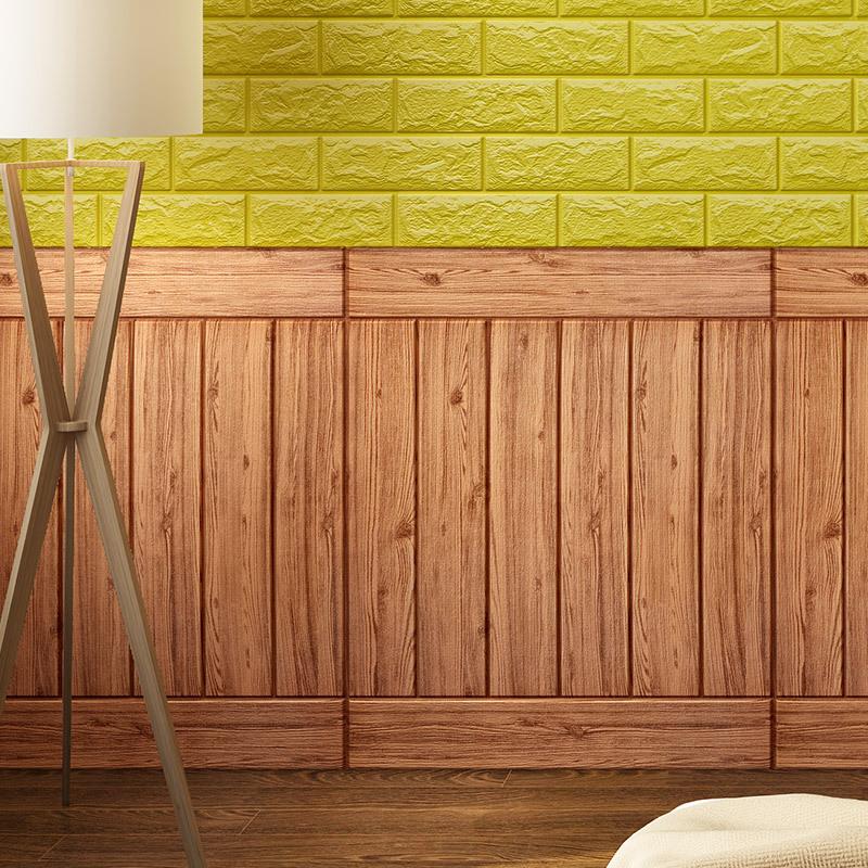 CAICHEN Decal dán tường 3d tường dán tường không thấm nước phòng ngủ phòng khách TV nền tường mô phỏ
