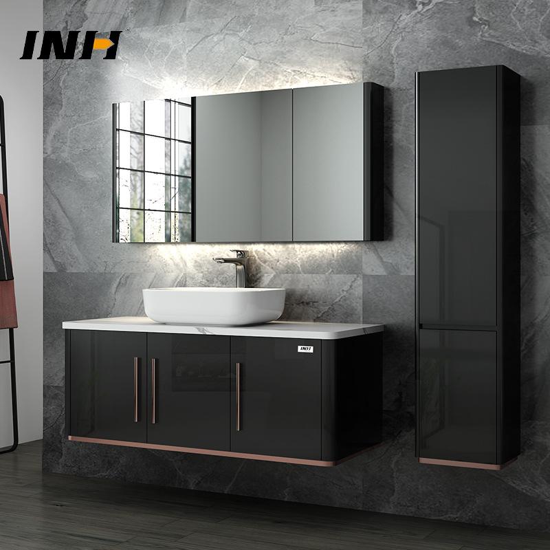 Tủ phòng tắm Đơn giản hiện đại kết hợp tủ gỗ gương .