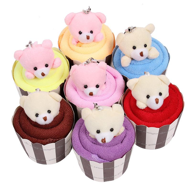 ZIHE Khăn bánh kem Quà tặng sáng tạo Quà tặng sinh nhật mẫu giáo Quà tặng tuần Grab Quà tặng dễ thươ