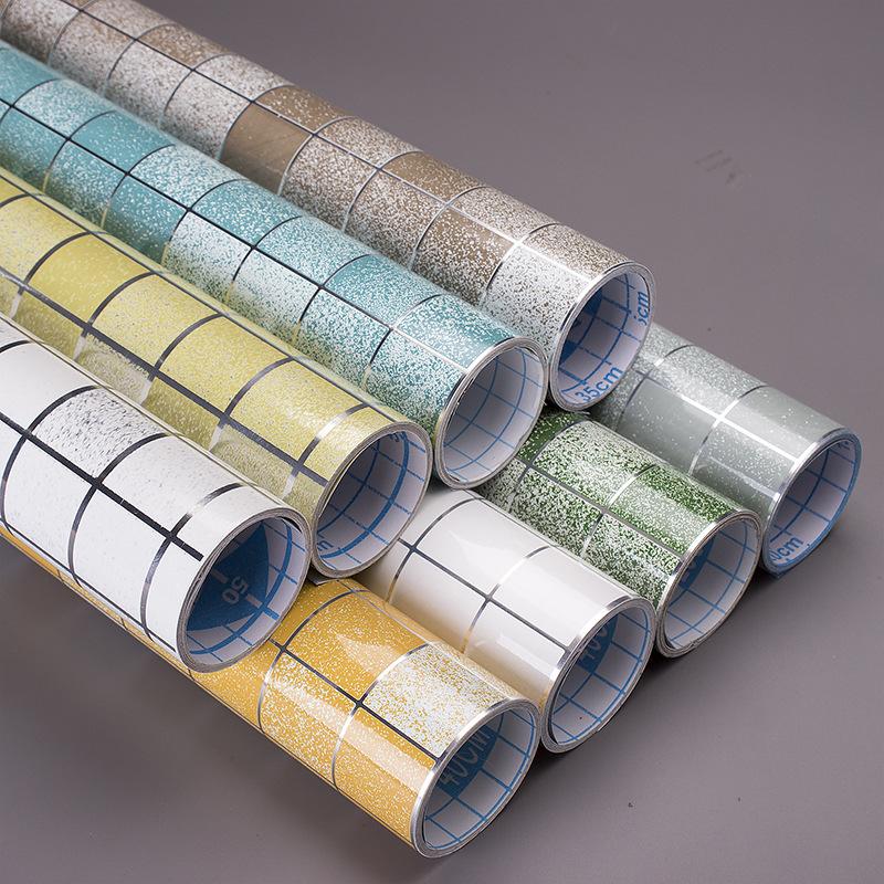 LAFUHENG Decal dán tường Nhiệt độ cao nhà bếp dán gạch chống thấm dầu chống thấm dễ dàng để chà 8 mà