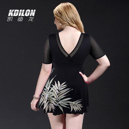 chống thấm nước  kdilon Kaidilong áo tắm size lớn suối nước nóng bảo thủ gợi cảm nữ béo mm che bụng