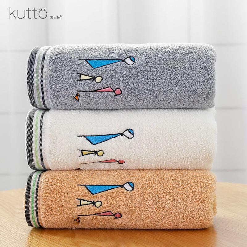 KUTTO Thị trường khăn Gia đình thỏ Gutian thêu dày khăn lau nhà sản xuất khăn thấm đôi vợ chồng ngườ