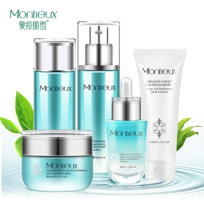 Mengtou Lixue bộ sản phẩm Oil Control Hydrating Muscle Facial Care Set Face Wash Sữa Essence Cream