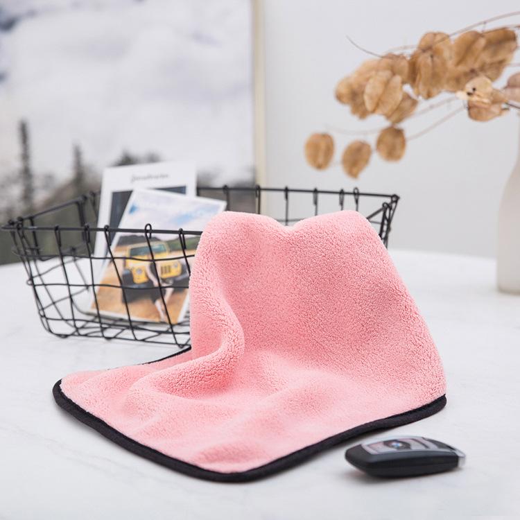 LPGZ Khăn lau xe Dệt kim sợi thủy tinh nhung hai mặt dày hai màu lint đa chức năng nhà bếp phòng tắm
