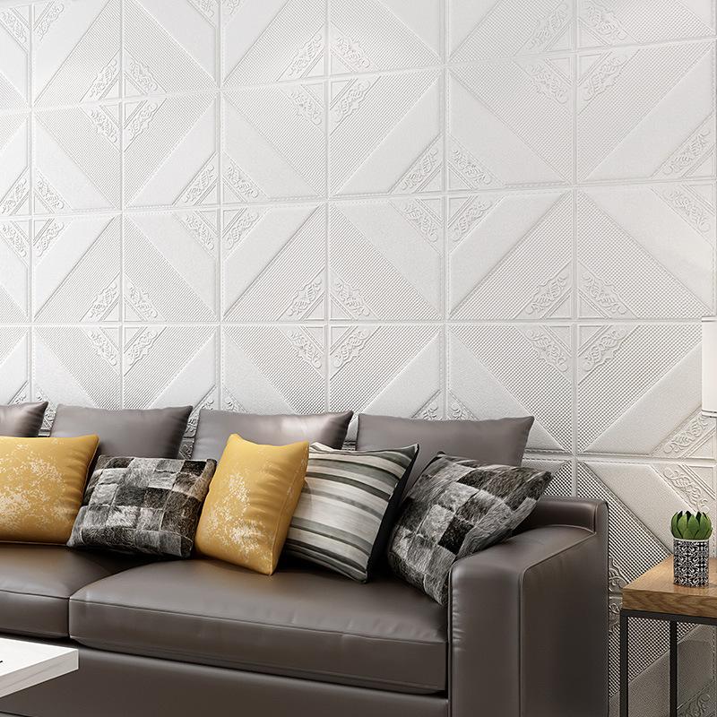 LIANGZHUANG Decal dán tường Giấy dán tường 3D tự dính dán tường chống thấm xốp dán phòng ngủ ấm áp n