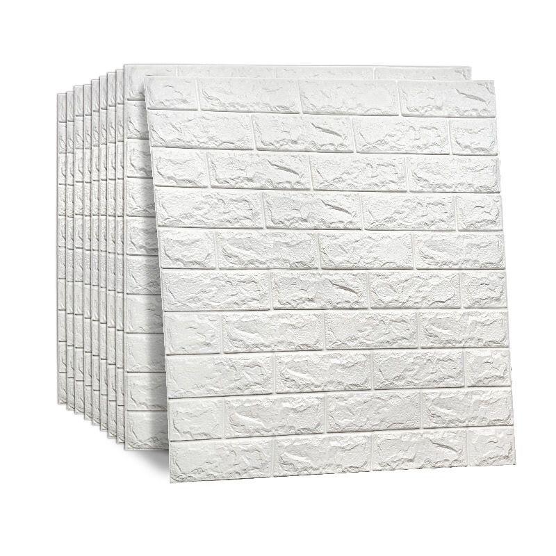 FAKOU Vải ốp tường 10 mảnh giấy dán tường tự dính 3d dán tường mềm gói phòng khách trang trí tường n