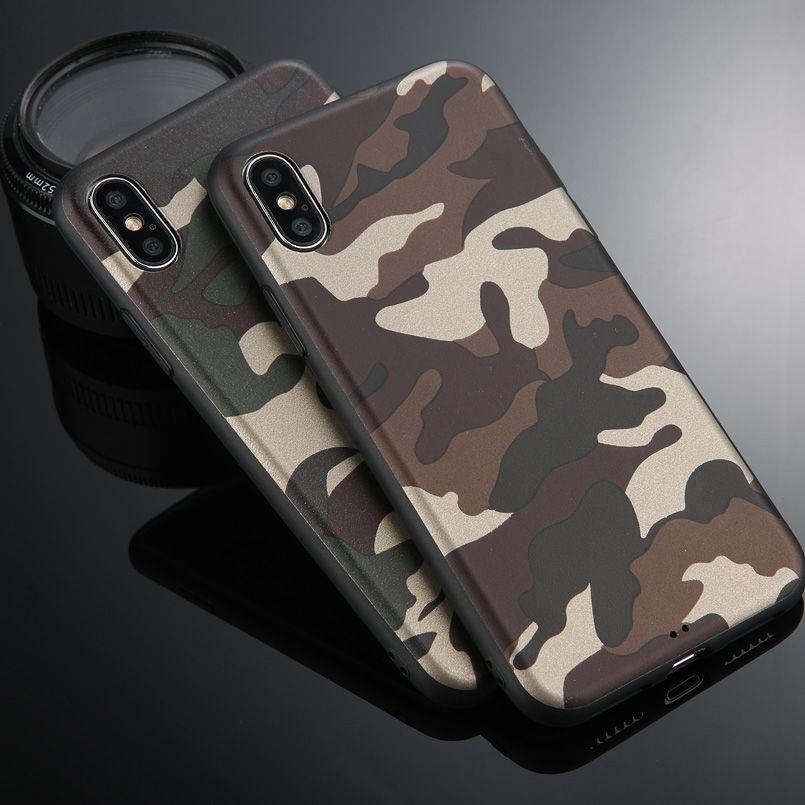 Cửa hàng phụ kiện chất lượng cao Ốp lưng iphoneXSmax mềm ngụy trang Vỏ điện thoại di động siêu mỏng