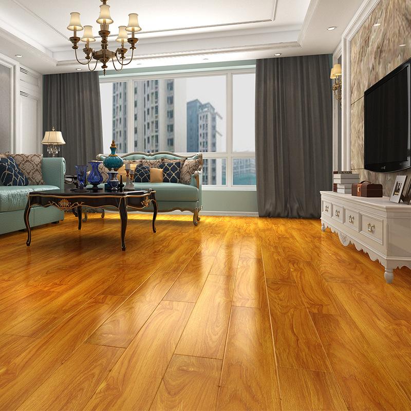 DomiShine Ván sàn Sàn gỗ gia dụng chống thấm nước có độ bóng cao và chống mài mòn thân thiện với môi