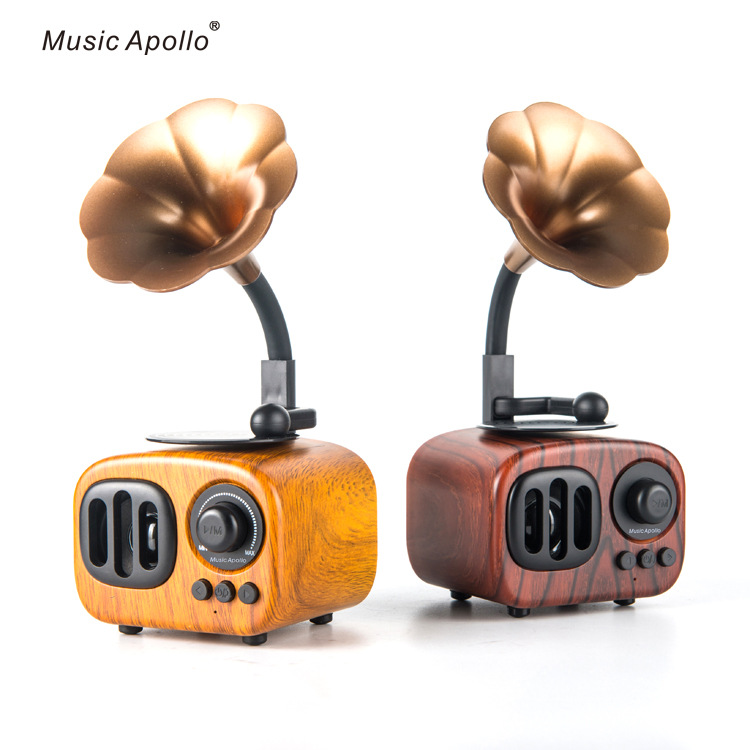 Loa nghe nhạc kiểu mới sáng tạo retro mini