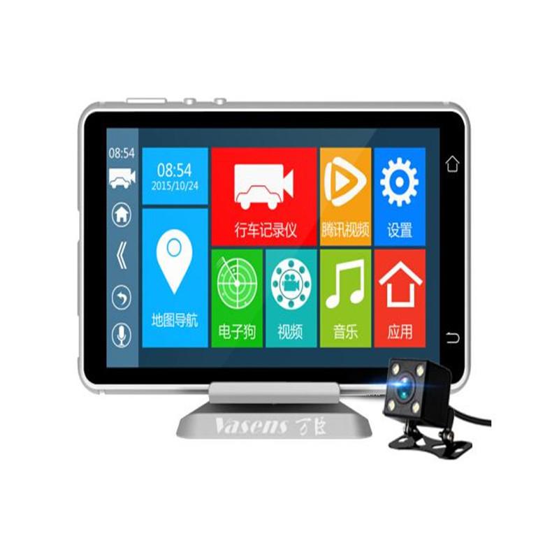 Điều hướng 5 inch Màn hình HD Điều khiển bằng giọng nói Cảnh báo sớm Android Đa chức năng