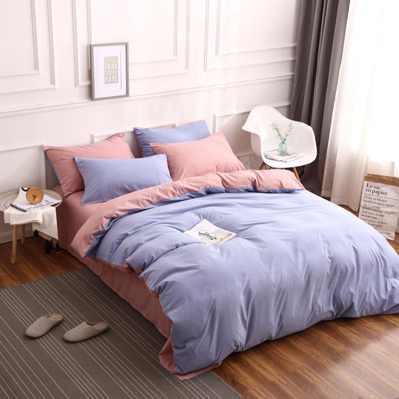 AFY drap mền Giường ngủ Bắc Âu mới bốn bộ đồ dùng nhà dệt màu giường tấm nhà sinh viên ba mảnh