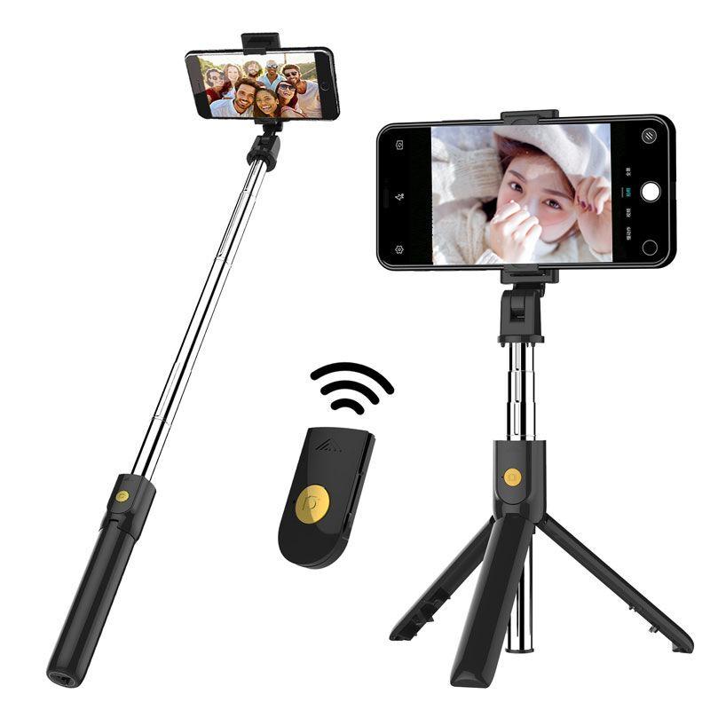 PAIERDE Gây tự sướng New K07 Bluetooth Selfie Stick Chân máy từ xa Điện thoại di động Đa năng Live P