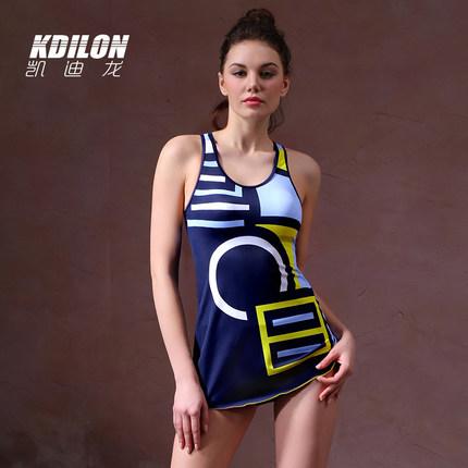 chống thấm nước  kdilon Kaidilong áo tắm mới một mảnh kiểu áo tắm bảo thủ ngực nhỏ thu thập sinh viê
