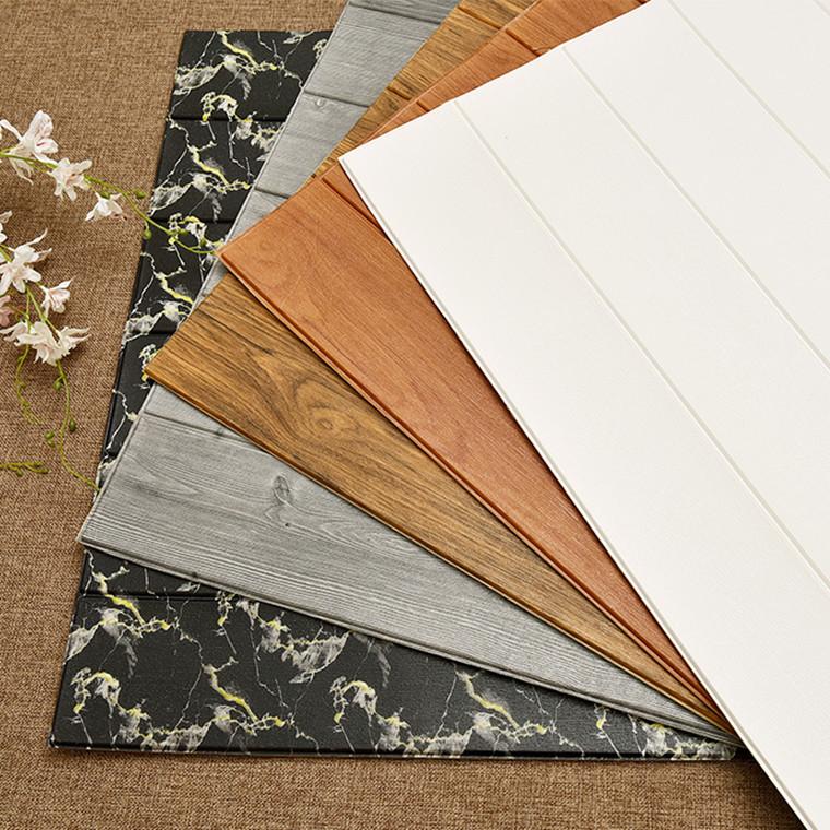 FUYI Decal dán tường Chống ẩm mốc tường giả gỗ hạt tường váy trần trần nhãn dán 3d giấy dán tường tự
