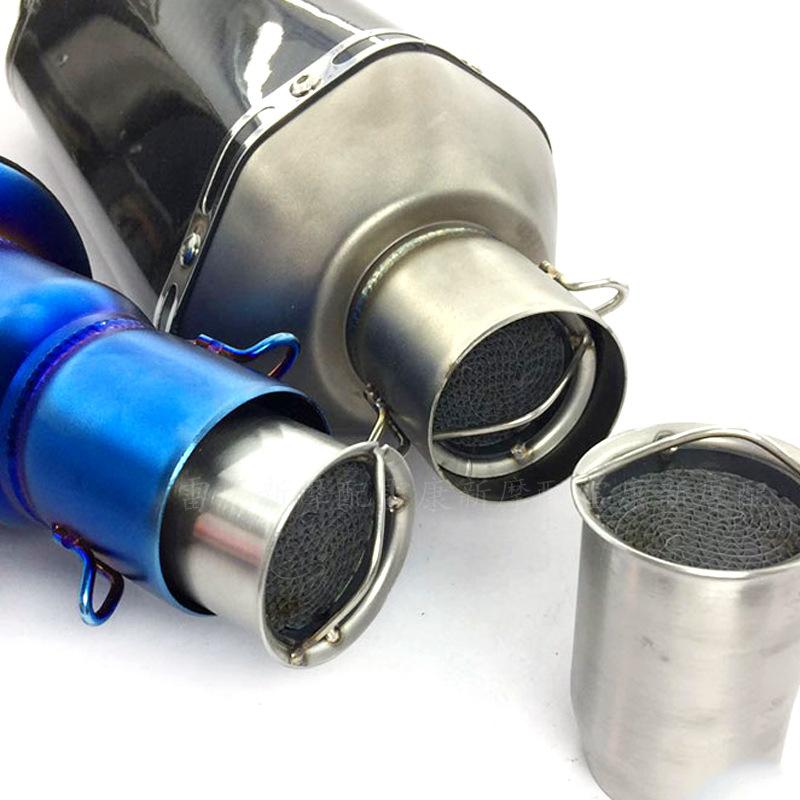 thị trường phụ tùng xe hơi / môtô Xe máy sửa đổi các bộ phận ống xả 60mm chất xúc tác giảm thanh giả